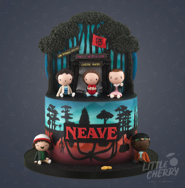 Stranger Things Cake Castle Byers