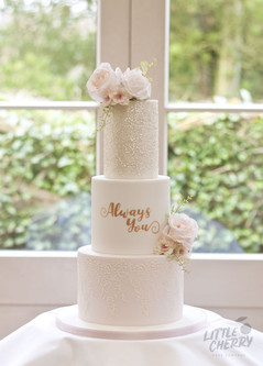 Always You Wedding Cake Mitton Hall