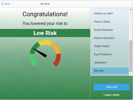 MyCOVIDRisk app considers user behavior to calculate risk of contracting COVID-19