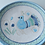 Thumbnail: 皿20㎝・サルデーニャ島陶器Ceramica Sarda (水色) セラミック装飾皿