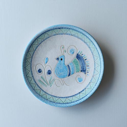 皿20㎝・サルデーニャ島陶器Ceramica Sarda (水色) セラミック装飾皿