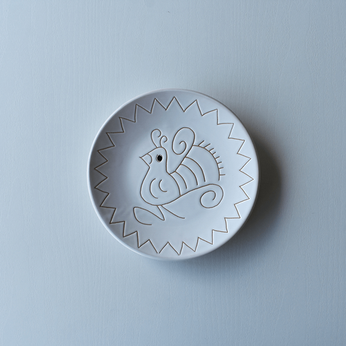 皿16㎝・サルデーニャ島陶器Ceramica Sarda (ホワイト) セラミック装飾皿