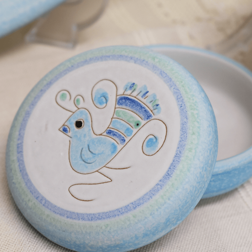 サルデーニャ島陶器Ceramica Sarda (水色) セラミック