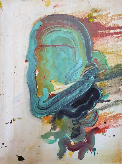 """Abstraktes Portrait"" Öl auf Leinwand 2019"