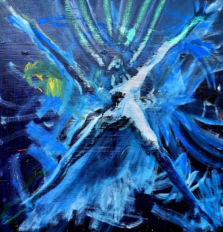 Ich-Auflösung Blau