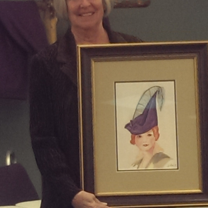 Judy Bell's first watercolor!