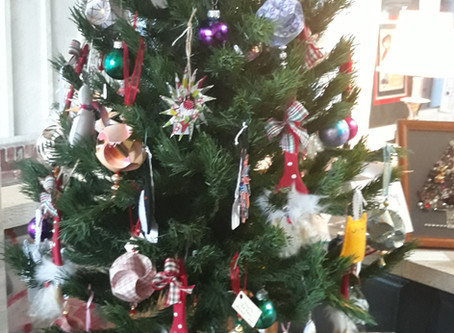 Handmade Christmas ornaments -- come and see them!
