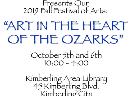 Ta-dah!!!! The Fall Festival of Art arrives this weekend! Don't miss it!