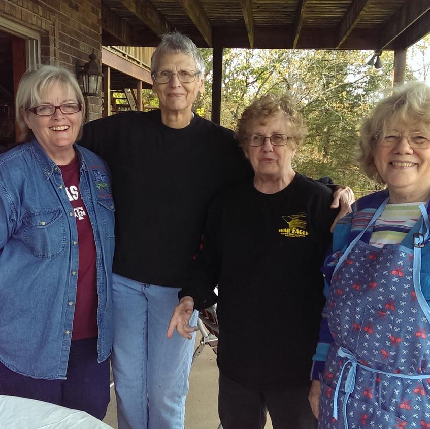 Jan O, Helen, Susan, and Karen P