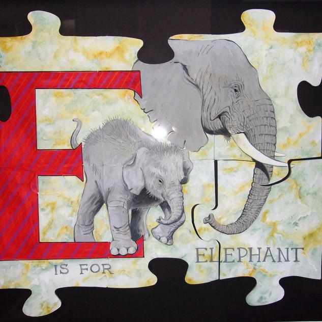 E is for elephant (Helen Long)