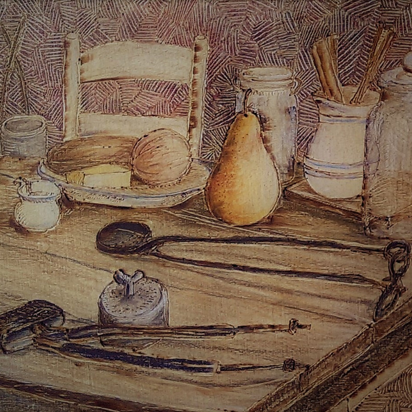 Pioneer farm table -Pat Hovis-French