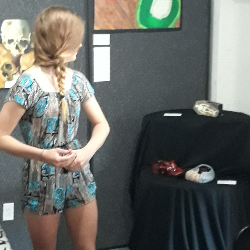 Carlie shares the story of her art