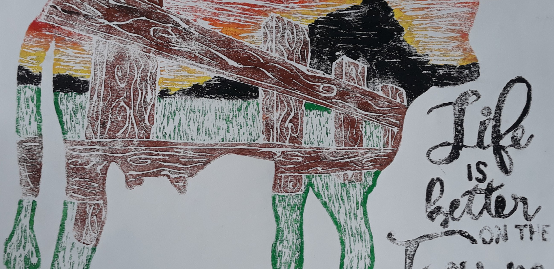 Life on the Farm - Printmaking - Ink