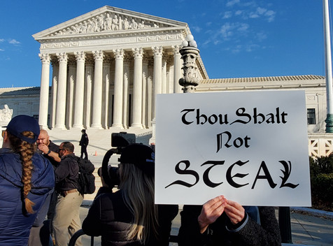 Supreme Court protest of election fraud
