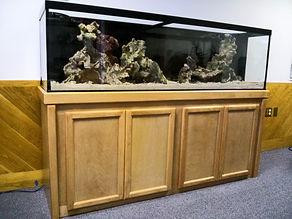 Aquarium Design 125 Gallon Installation in Progress