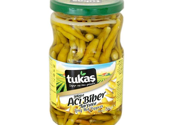 Tukas long hot pepper pickles 190g