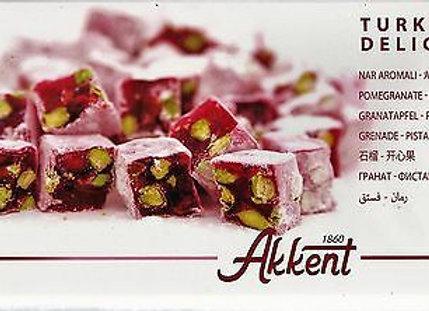 Akkent Turkish Delight Pomegranate & Pistachio 400g