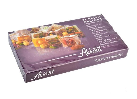 Akkent Turkish Delight Almond, Hazelnut, Pistachio 400g