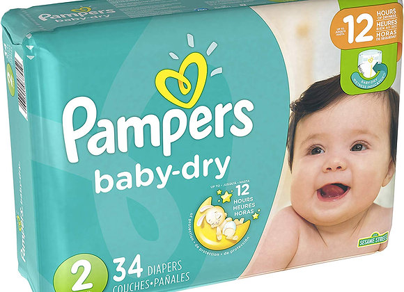 Pampers no2 , 34 diapers