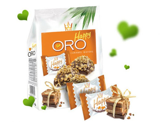 Happy oro caramel wafers 140g
