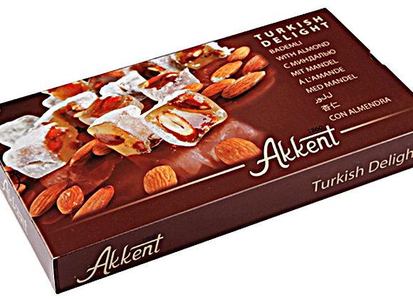 Akkent Turkish Delight Almond 400g