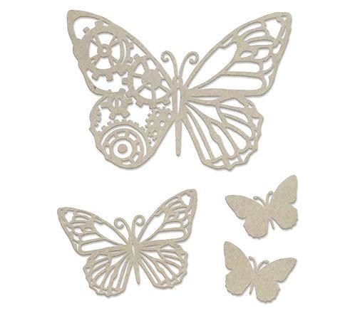 Steampunk Butterfly Chipboard Set