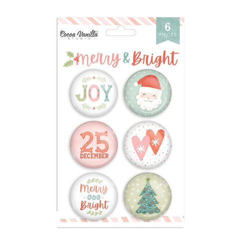 Merry & Bright Flair Buttons
