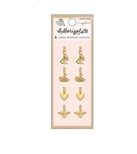 Marigold Embelishment Metal Charms Crate Paper