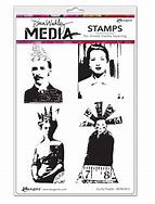 Dina Wakley Media Stamp-Quirky People