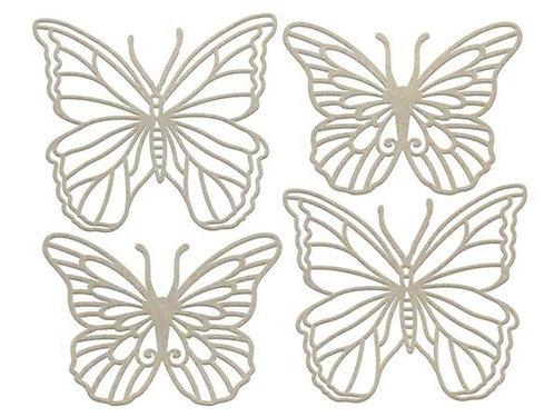 Widespread Butterfies Chipboard Set