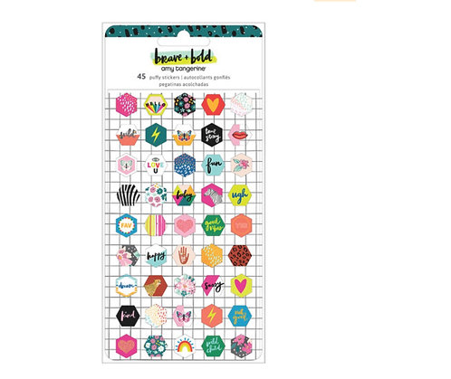 Brave & Bold- Puffy Stickers