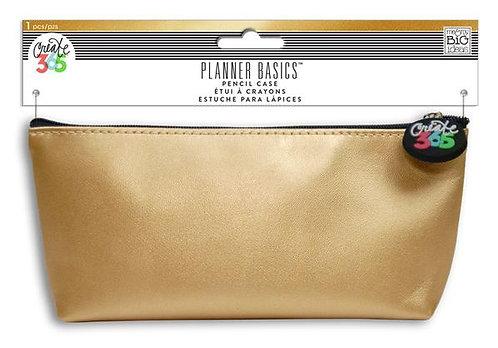 Planner Basics Gold Pencil Case