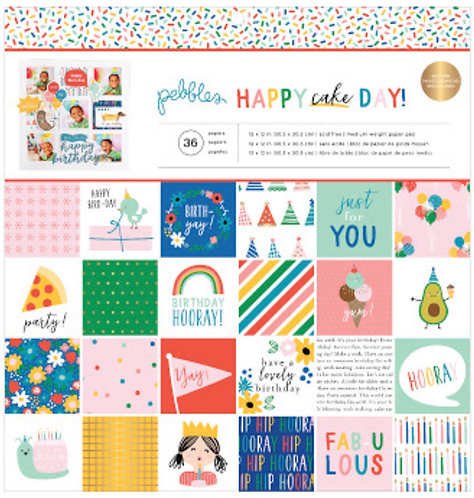 Happy Cake Day 12x12 paper pad by Pebbles