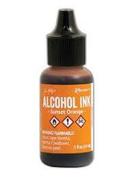 Tim Holtz Alcohol Ink-Sunset Orange