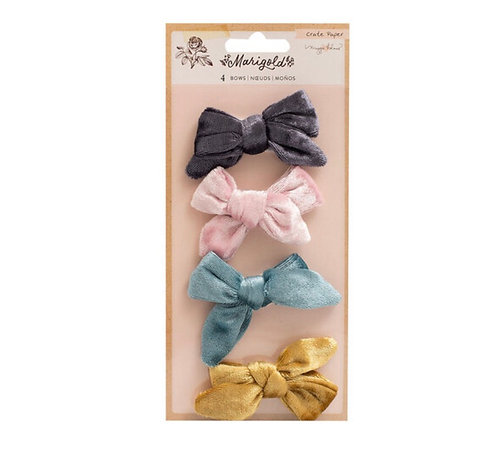 Marigold Embelishment Fabric bows Crate Paper