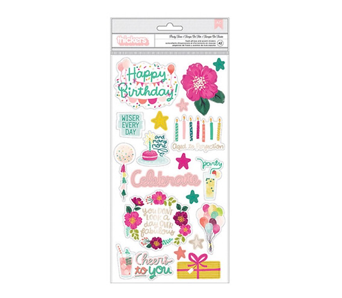 Party Time Thickers Sheet -And Many More-Pink Paislee