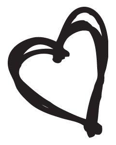 UmWow Sketchy Heart Mask