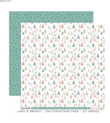 Merry & Bright- Oh Christmas Tree 12x12 patterned paper