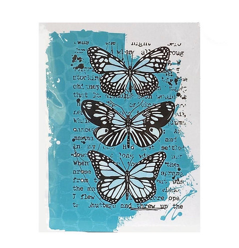 Mixed Media Butterflies Stamp