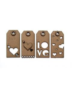 UmWow Love Tags Chipboard