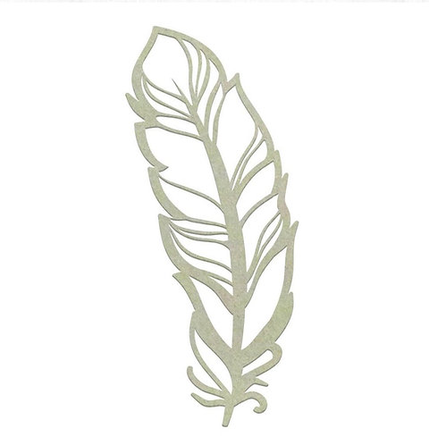 Delicate Feather Chipboard