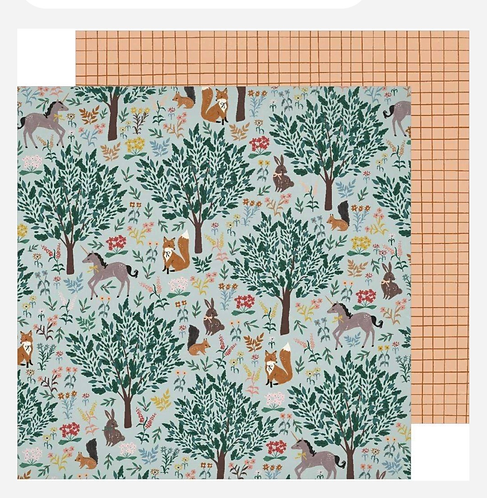 Imaginary  12x12 paper Magical Forest
