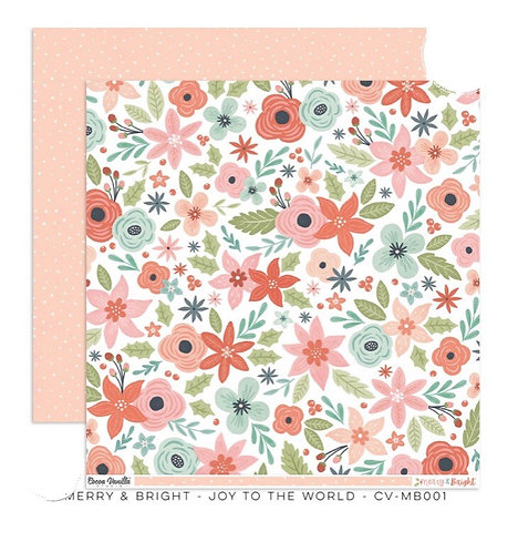 Merry & Bright- Joy To The world 12x12 patterned paper