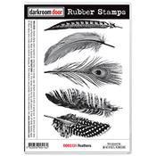 Feathers Rubber Stamps- by Darkroom door