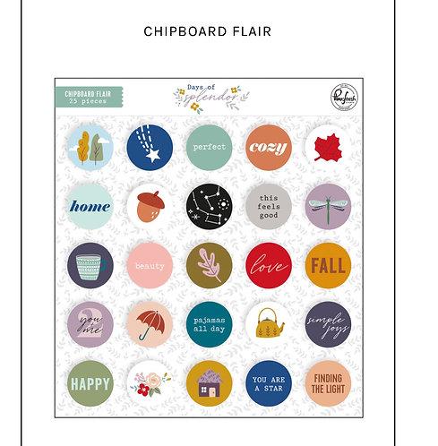 Days of Splendor Chipboard Flair