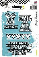 Carabelle Studio Art Stamp- smile love and dancing by Birgit Koopsen