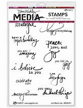 Dina Wakley Media Stamp-Just What To Say
