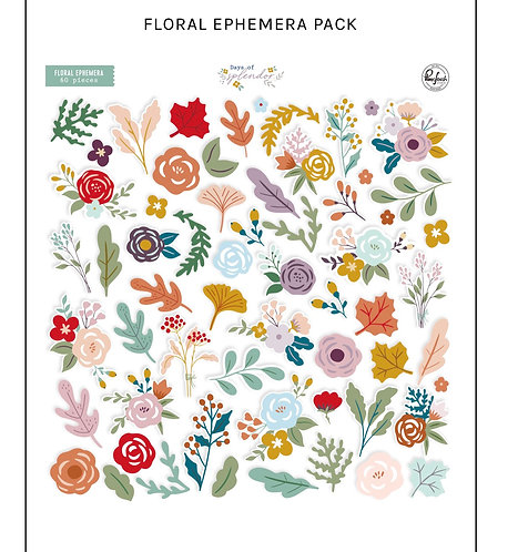 Days of Splendor Floral Ephemera Pack