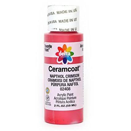 Napthol Crimson Ceramcoat paint