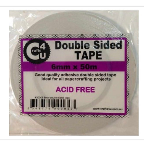 Double sided tape 6mm x 50m